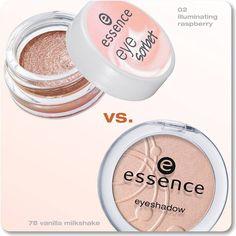 which do you prefer?  a. powder eyeshadow b. cream eyeshadow  #essence #cosmetics #makeup #eyeshadow #eyes