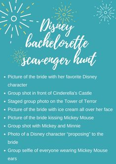 Planning a bachelorette party? Bachelorette scavenger hunt is one of the hottest new trends! Here are some bachelorette scavenger hunt ideas! Raunchy Bachelorette Party Games, Bachelorette Party Scavenger Hunt, Disney Bachelorette Parties, Bachelorette Weekend, Bachelorette Itinerary, Bachlorette Party, Vows For Her, Hen Party Bags, Hunting Wedding