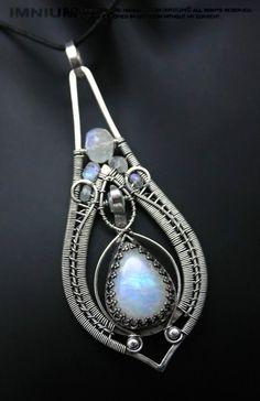 Moonstone teardrop pendant by IMNIUM.deviantart.com on @deviantART
