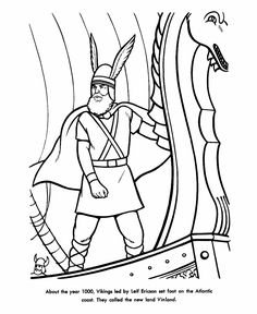 leif erickson discovery of america coloring page