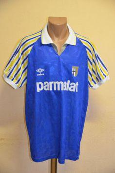 RARE-PARMA-ITALY-1990-1991-1992-PARMALAT-AWAY-FOOTBALL-SHIRT-UMBRO-VINTAGE