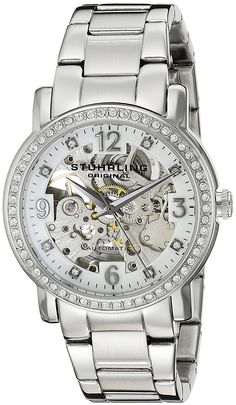 Stuhrling Original Women's 531L.11112 Classic Delphi Canterbury Swarovski Crystal-Accented Watch *** Tried it! Love it! Click the image.