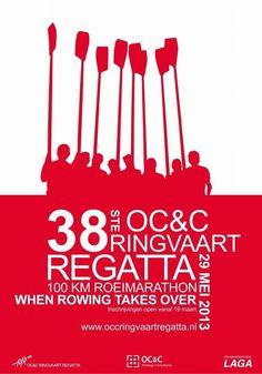 Rowing regatta poster