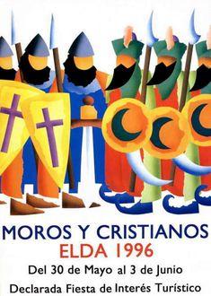 Cartel Moros y Cristianos Elda año 1996