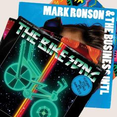 """Mark Ronson & The Business Intl. """"The Bike Song"""" Single Cover Mark Ronson, Album Of The Year, Music Pictures, Album Songs, Thing 1 Thing 2, Cover Art, Album Covers, Bike, Movie Posters"""
