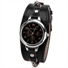 Cute Quartz Watch with Arabic Numbers Indicate Leather Watch Band for Women - Black, BLACK in Women's Watches Cool Watches, Women's Watches, Black Watches, Cheap Accessories, Leather Watch Bands, Quartz Watch, Women Jewelry, Numbers, Net Shopping