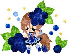 フリーのイラスト素材ブルーベリーのドレスを着た少女のイラスト  Free Illustration The illustration of the girl in the blueberry dress   http://ift.tt/2lpmlWj