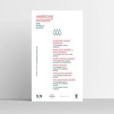 Cartel festival American Autumn 2019 by María Grande diseño gráfico identidad corporativa de festival de música. American, Graphic Design Projects, Grand Designs, Corporate Identity
