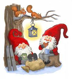By Éphémeride seasonal calender Enfin un repos bien mérité Christmas Rock, Swedish Christmas, Christmas Gnome, Christmas Pictures, Winter Christmas, Vintage Christmas, Christmas Crafts, Christmas Decorations, Christmas Ornaments