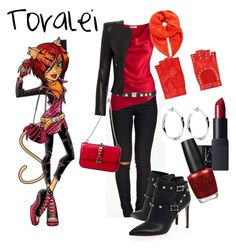 """monster high toralei"" by didneyworl ❤ liked on Polyvore featuring Sally&Circle, Amanda Wakeley, Valentino, Mario Portolano, Fendi, NARS Cosmetics and OPI"