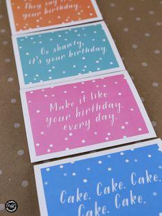 Printable Birthday Cards with Envelope Liner Elegance and Enchantment | TodaysCreativeBlog.net