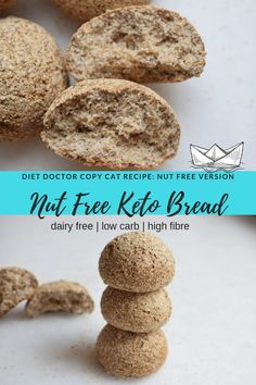 This keto bread rolls mimics the famous Diet Doctor Keto Bread in a NUT FREE VERSION! The perfect keto bread is not nut free! This keto bread rolls mimics the famous Diet Doctor Keto Bread in a NUT FREE VERSION! The perfect keto bread is not nut free! Keto Diet List, Starting Keto Diet, Diet Menu, Keto Meal, Paleo Diet, No Bread Diet, Low Carb Bread, Nut Free, Dairy Free