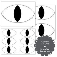 Cat Eye Cut Outs from PrintableTreats.com