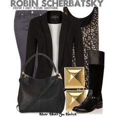 wearwhatyouwatch:  Inspired by Cobie Smulders as Robin Scherbatsky on How I Met Your Mother - Shopping info!