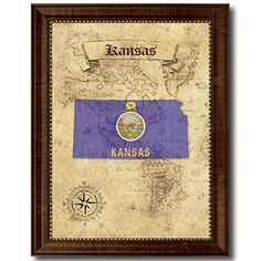 Kansas State Flag Custom Made Frame Home Décor American Map Handcrafted Artisan Primitive Plaque Cottage Shabby Chic Mixed Design Wall Art Décor Gift Ideas AllChalkboard http://www.amazon.com/dp/B00WJTU1CC/ref=cm_sw_r_pi_dp_ivBKvb0311EAB