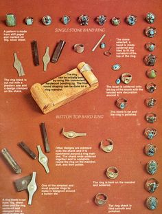 Navajo Silver Casting pt I (source: Indian Jewelry Making, Oscar T. Branson 1977, 1979)