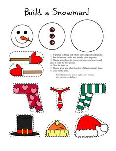 Smarty Pants Fun Printables: Printable Snowman and Snow Woman Arts and Craft for Kids