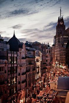 Madrid, Spain, buenas noches