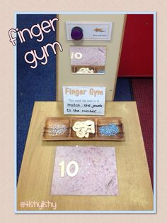 British Columbia Kindergarten Math Finger Gym - matching amount with number.Early Years ideas from Tishylishy. Sharing photos, provision enhancements and outcomes from my EYFS class and the occasional share from others. Motor Skills Activities, Classroom Activities, Classroom Ideas, Fine Motor Skills Development, Physical Development, Early Years Maths, Finger Gym, Reception Class, Funky Fingers