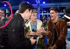 Shawn Rapping with Jack&Jack at MTV EMA 2016