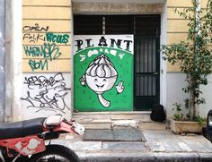 Graphic designer, illustrator, street artist or else Antio's. His murals stand out in the center of Athens, making the gray walls a little more colorful and the city more positive as his cacti are … #antios #streetart #greece