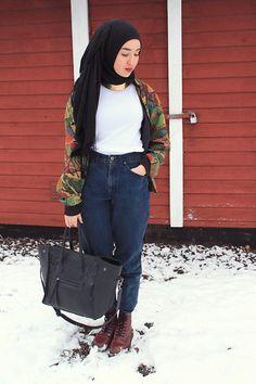 Vintage Blazer, Dr. Martens Doc's #hijab
