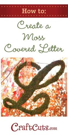 How to Create a Moss Covered Letter | CraftCuts.com