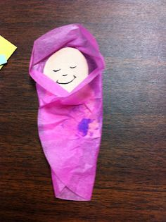 Rock-A-Bye-Baby - or for someone who is having a baby during school year. So cute and easy.  Could be a baby Jesus too - always looking for a good one to put in our manger.