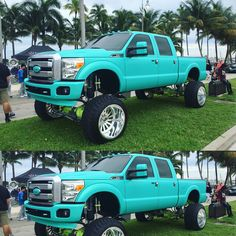 Ford F-250 Super Duty on American Force rims. I ain't a big fan of the wheels but still a bad looking truck
