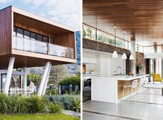 beach house perched on a cliff near Sydney. Architecture: Alex Symes & G+V Architecture