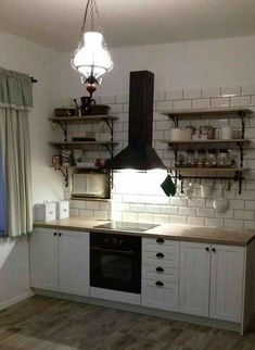 Provence, Kitchen Cabinets, Ceiling Lights, Lighting, Home Decor, Decoration Home, Room Decor, Cabinets, Lights