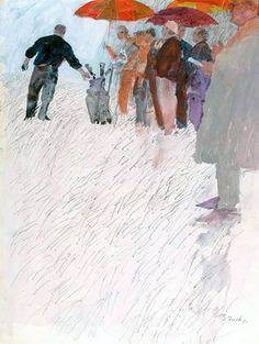"""""""Arnold Palmer Teeing Off"""" Sports Illustrated painting by Bernie Fuchs, 1964."""