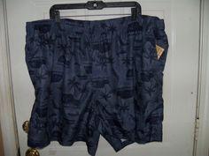 OP Blue Island Print Swim Shorts Size 3XL (48/50)  NEW #FadedGlory #Trunks