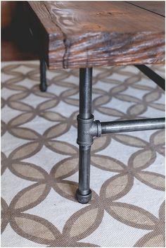DIY industrial coffee table tutorial!                              …