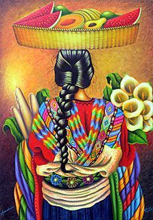 Chichicastenango by Ottoniel Chavajay - GINA Gallery of International Naive Art Guatemalan Art, Art Chicano, Arte Latina, Mexican Paintings, Hispanic Art, Peruvian Art, Peruvian Women, Latino Art, Mexican Heritage