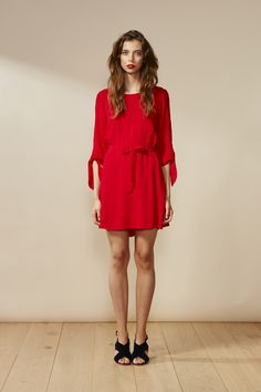 RUBY Harmony Bow Dress Red