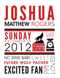 NC State Wolf Pack inspired nursery wall art. Available for customization at www.etsy.com/shop/simplypaperdesigns