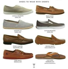 Shoes to wear with shorts for men