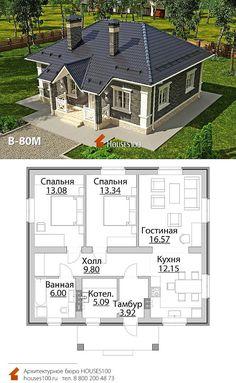 Cabin House Plans, Basement House Plans, House Layout Plans, Dream House Plans, House Layouts, Modern Bungalow House, Bungalow House Plans, Casas Country, Architect Design House