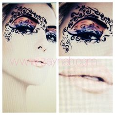 Face Art ,  tattoos, eyeshadow, makeup, beauty, model, lips, with @provokecosmetics