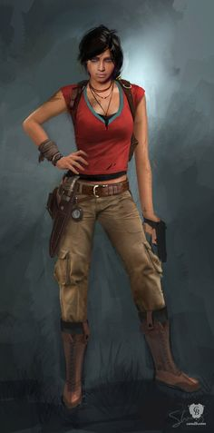 #Chloe is concept art for the game #Uncharted 2 : Among Thieves and has been…
