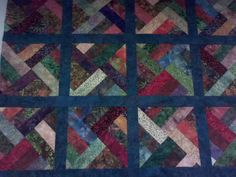 """batiks quilt. Made by """"Susan M"""" a member on our quilting forums."""