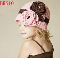 NEW FASHION CROCHET BABY HAT WITH FLOWERS
