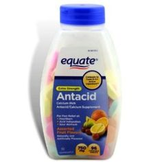 I'm learning all about Equate Antacid Tablets Extra Strength 96 Chewable Tablets Assorted Fruit Flavors 750 mg at @Influenster!