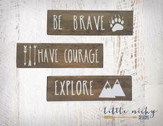 Be Brave, Have Courage, Explore >> Tribal Woodland Nursery Decor >>…
