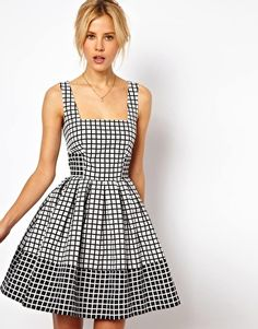 ASOS Skater Dress In Jacquard Check Pretty Dresses c50c813c8