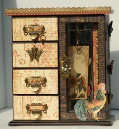 Altered Jewelry Box - Scrapbook.com