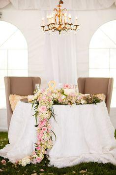 Beautiful bride and groom table: http://www.stylemepretty.com/indiana-weddings/indianapolis/2014/12/04/romantic-garden-style-barn-wedding/ | Photography: Bobbi+mike - http://www.bobbiandmike.com/