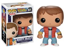 Go back in time with Pop! Vinyl and Back to the Future! This Back to the Future Marty McFly Pop! Vinyl Vehicle features the hero of the Back to the Future trilogy rendered in the adorable Pop! Vinyl format with the likeness of actor Michael J. Fox.