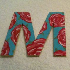 Lilly Pulitzer Inspired Hand Painted Letter